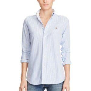 Ralph Lauren Blue Stripe Button Down Shirt